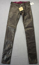 AG ADRIANO GOLDSCHMIED USA Faux Leather Super Skinny Legging Jeans NWT 24R 24x31