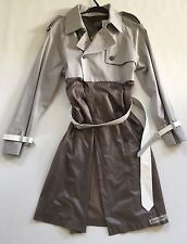 Ladies Antipodium Trench Coat In Brown and Grey. Size 8