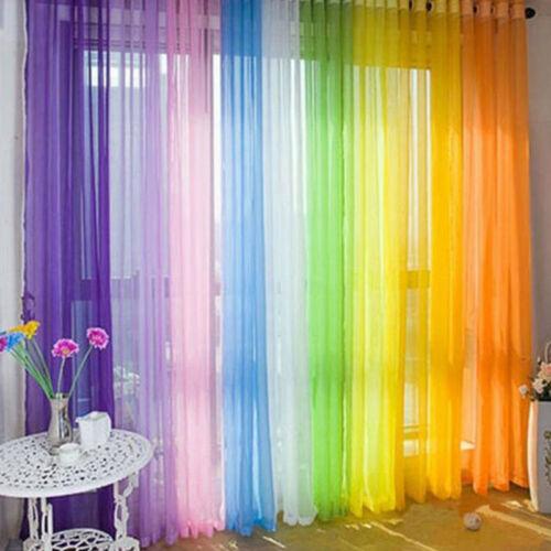 200 cm Window Tulle Voile Curtain Sheer Valances Drape Panel Party Banquet 100