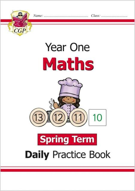 New KS1 Maths Daily Practice Book: Year 1 - Spring Term by CGP 9781789085051