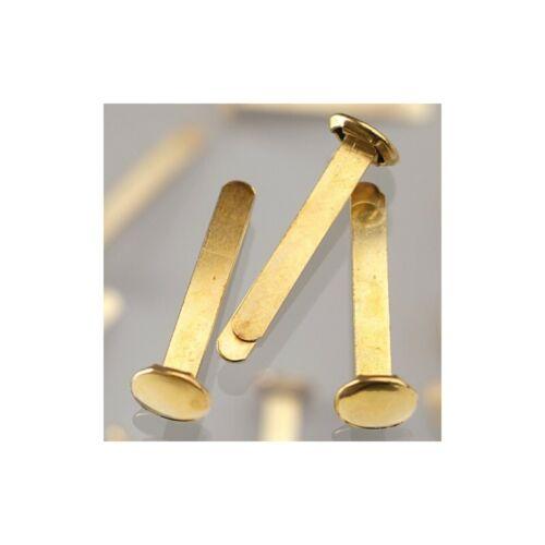 Attaches parisiennes de 17 mm en laiton doré 20 pièces