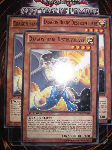 com white dragon destruvouivre x3 Yu-gi-oh fr093-shsps nine fr ed 1 playset