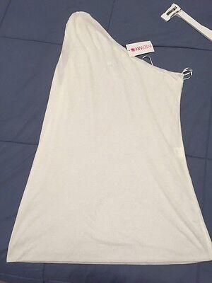 NWT White One Shoulder Designer IVY by INTERMIX Toga Medium Ret.$98 Sexy Top