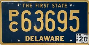 GENUINE-American-Delaware-People-Carrier-License-Licence-Number-Plate-Tag-63695