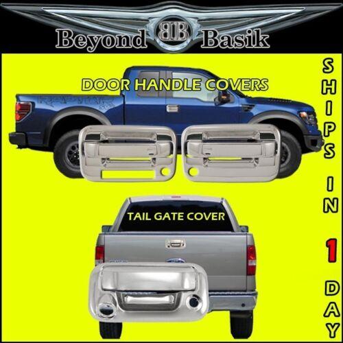 Tail Gate w//Camera /& Keyhole 2004-2014 F150 Chrome 2 Door Handles 2KH W//KP