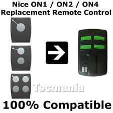 Nice ON1 ON2 ON4 Replacement Remote Control Garage Gate 433.92 Mhz Rolling Code