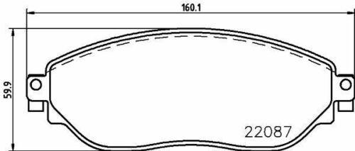 Mintex MDB3755 Lot de plaquettes de frein DISQUE DE FREIN AVANT