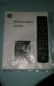ge vcr remote and owners manual ebay rh ebay com Sanyo VCR GE DVD Player