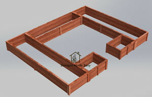 Raised Garden Bed Frame | EASY Design Plans Instructions for Woodworking 01