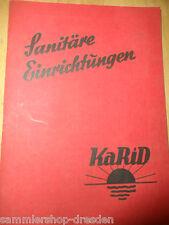 20168 Sanitäre Einrichtungen KaRid Katalog Karl Richter Godesia Gasgeräte 1938