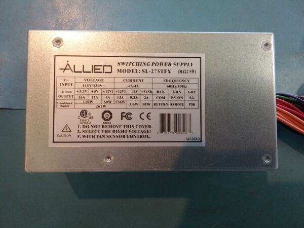 *tested* Allied Sl-275tfx 275w 24pin Sata Power Supply