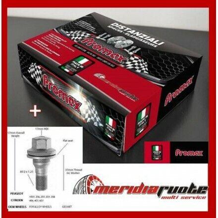 BULLONI CON RONDELLA COPPIA DISTANZIALI DA 16mm PROMEX CITROEN C3//PICASSO,DS3