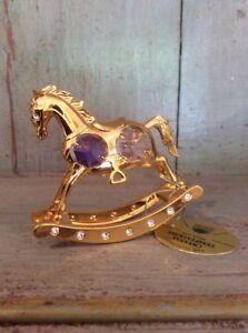 Cavallo A Dondolo Swarovski.Crystal Temptations Swarovski 24 K Placcato Oro Cavallo A Dondolo