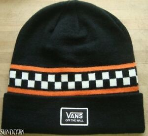 96ad0f86569 NWT VANS CHECKER OTW ADULT UNISEX BLACK KNIT BEANIE WINTER HAT CAP ...