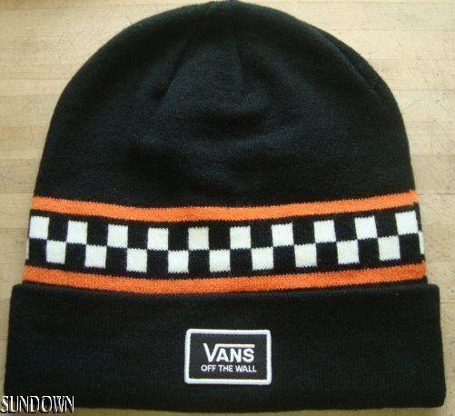 11c426d1b98 VANS Checker OTW Adult Unisex Black Knit Beanie Winter Hat Cap