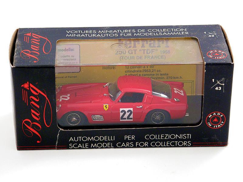 Bang 426 Ferrari 250 TDF GP de Paris 1960 1 43 modeling static