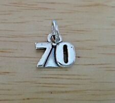 Sterling Silver 17x5mm Number Sixty 60 60th Birthday Charm