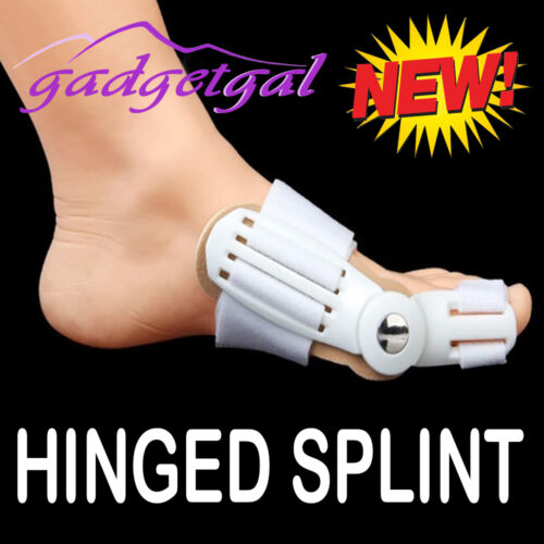 New Hinged Bunion Protector Splint Pad Hallux Valgus Foot, Toe Pain Relief