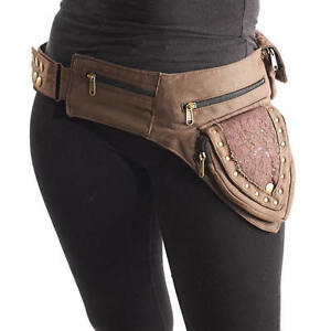 Canvas Side Bag Bumbag Utility Belt Money Belt Festival Outfit Pocket Belt