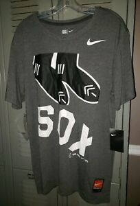 MLB-Boston-Red-Sox-Nike-Charcoal-Cooperstown-Collection-Logo-T-Shirt-Men-039-s-2XL