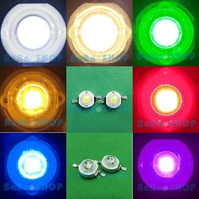 1W Royal Blue Red Green Yellow Pure Warm White High Power LED Lamp Light 1Watt