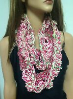 Hand Knit Circular Shawl Roses Lace Designer Fashion Spring Summer Bohemian