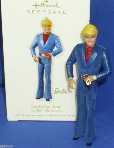 Hallmark Barbie Ornament Super Star Ken Bell Bottomed Jumpsuit 2010 Super Star