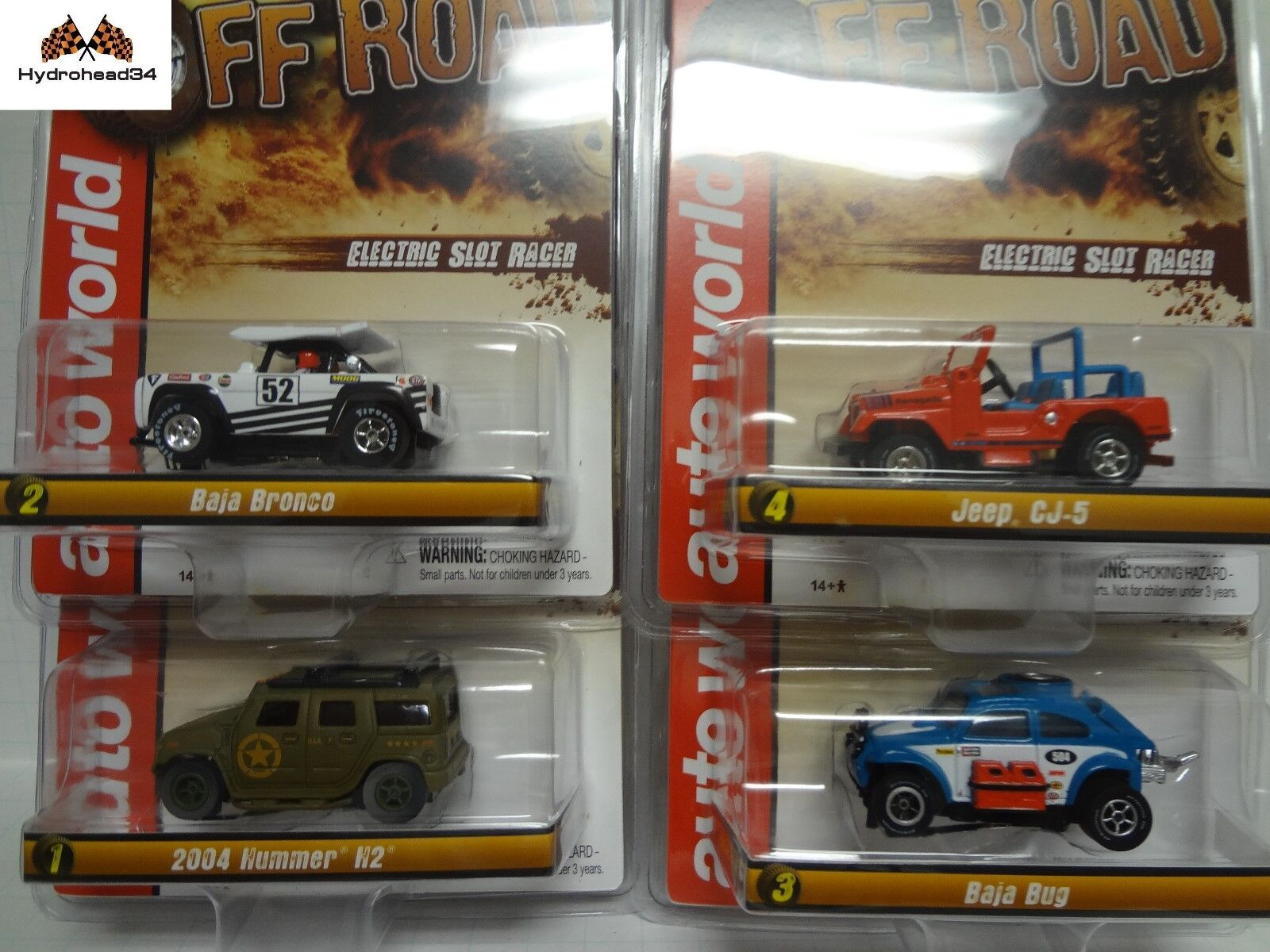 Auto World Off-Road XTraction Electric Slotcar Set2 of 4 R24 SC335 - 18ZH