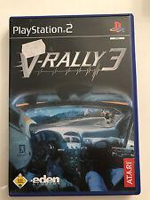 PS 2 gioco-V-RALLY 3