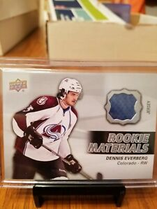 2014-15-Upper-Deck-Series-2-Dennis-Everberg-Rookie-Materials-Jersey-Relic