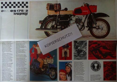 7 stk POSTER größe Prospekt DDR IFA MZ Motorrad MZ ES 175//2 TROPHY Farbe Super