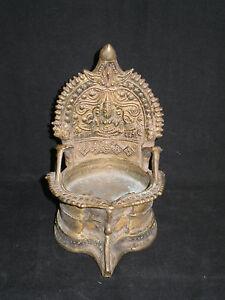 Ancienne Lampe A Huile De Temple Domestique Inde Ebay