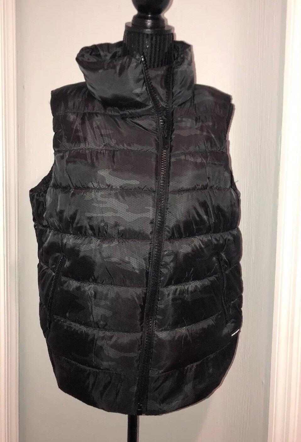 DKNY Water repellent Camo Puffer Vest Vest Vest NWT Size L a03a8a