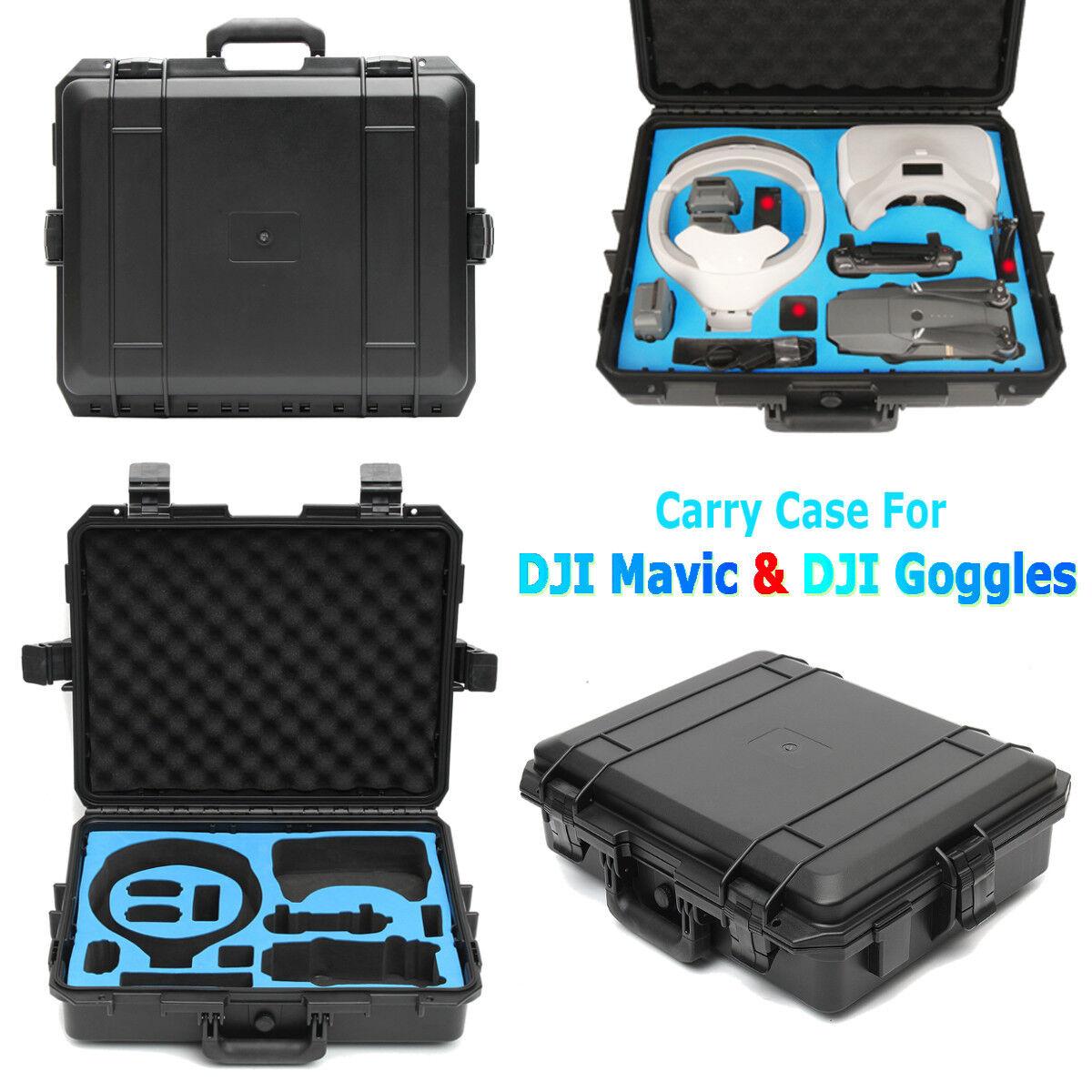 Waterproof Carrying Shoulder Box Case For DJI Mavic Pro Drone + DJI VR Goggles