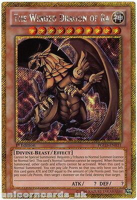 PGLD-EN031 The Winged Dragon of Ra Gold Secret Rare UNL Edition Mint YuGiOh Card