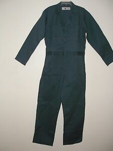 Mens 100 Percents Cotton Coveralls Size 38 R Spruce Green by Ebay Seller