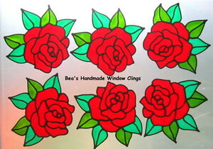 BEAS-STAINED-GLASS-EFFECT-RED-ROSES-WINDOW-MIRROR-TILE-CONSERVATORY-CLINGS
