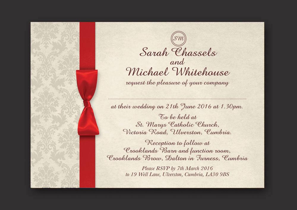 Damas personnalisé mariage invitations jour soirée avec enveloppes-option O O O e03fe9