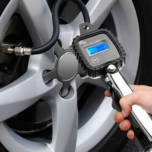 Portable-LCD-Digital-Car-Tire-Tyre-Inflator-Air-Pressure-Gauge-PSI-With-Hose