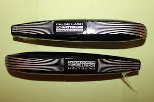 2-x-L-Oreal-False-Lash-Schmetterling-Mascara-Noir-Black-schwarz