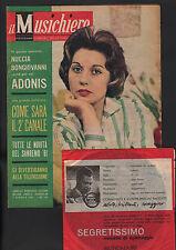 MUSICHIERE 106/1961 SANREMO MINA DE SICA + DISCO FLEXI ADONIS NUCCIA BONGIOANNI