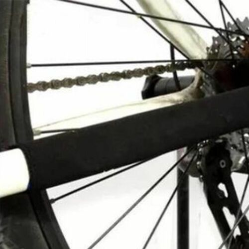 Durable 2PC Black Bicycle Frame Chain Stay Protector Guard Cover Wrap //\