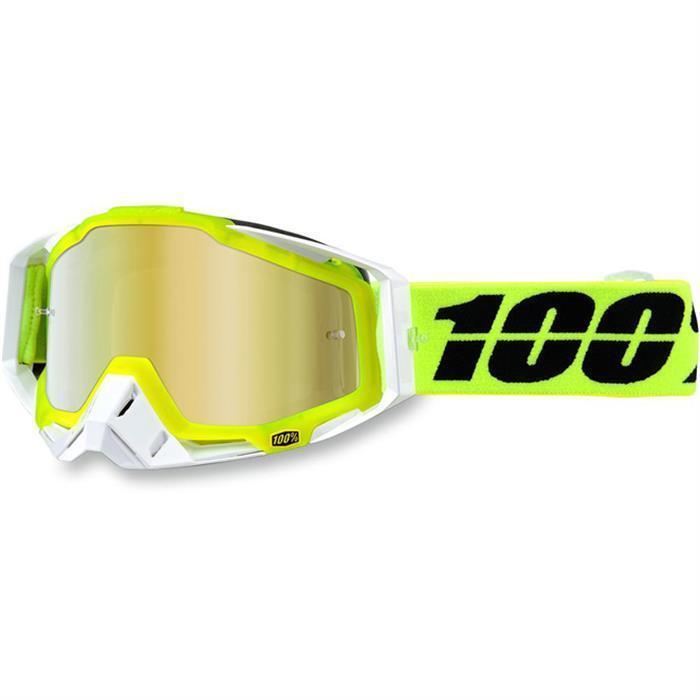 100% MX RACECRAFT-Solar Gafas de motocross gold Enduro MX Quad Gafas Motocicleta