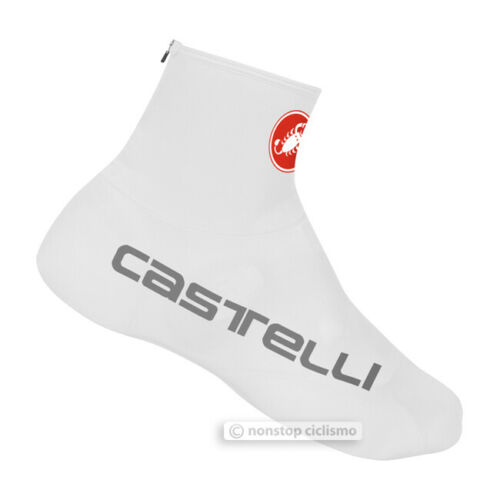 Castelli LYCRA AERO Cycling Shoe Covers Booties Overshoes WHITE One Pair