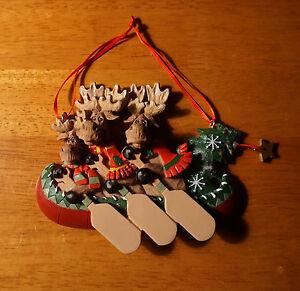 image is loading moose family canoe ornament paddle canoeing cabin lodge - Christmas Moose Home Decor