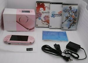 Used-Sony-PSP-3000-Console-BLOSSOM-PINK-w-Box-Charger-amp-3pcs-Japan-import