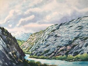 W. Harold Hancock - Original SCENIC Mountain Range WESTERN Painting COLORADO