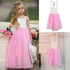 Robe-Bebe-Fille-Costume-Princesse-Rose-Dress-Coton-Frock-Vetement-Mode-Pr-Enfant