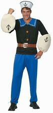 MENS POPEYE THE SAILOR MAN FANCY DRESS COSTUME STAG DOO PARTY CARTOON FILM