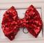 Girls Glitter Sequin Novelty Bow Hair Alligator Clip Clips